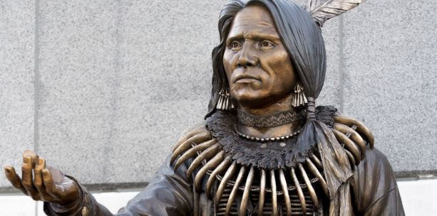 Chief Standing Bear statue